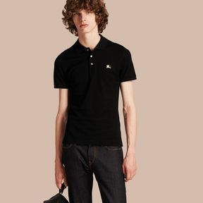 Burberry Fitted Mercerised Cotton-Piqué Polo Shirt