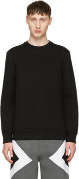 Neil Barrett Black Army Patch Sweatshirt