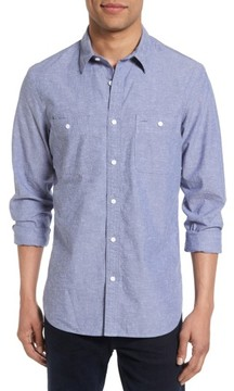 Nordstrom Men's Slim Fit Slub Cotton Sport Shirt