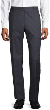 Lubiam Men's Wool Check Trousers