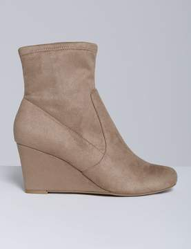 Lane Bryant Stretch Ankle Boot with Wedge Heel
