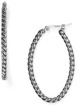 Bloomingdale's Sterling Silver Twisted Oval Hoop Earrings - 100% Exclusive