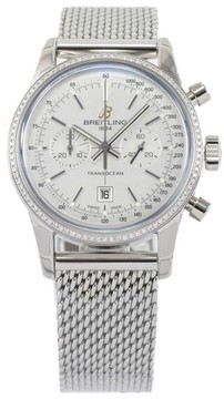 Breitling TransOcean Chronograph 38 Stainless Steel & Diamond 38mm Watch