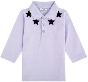 Givenchy Star Motif Long Sleeve Polo Shirt