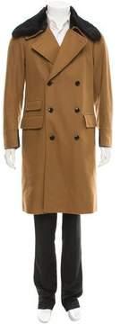 Dries Van Noten Fur-Trimmed Double-Breasted Coat