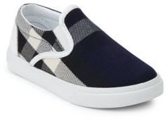 Burberry Toddler's Plaid Slip-On Sneakers