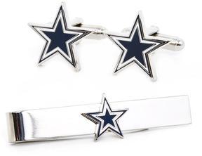 Ice Dallas Cowboys Cufflinks and Tie Bar Gift Set