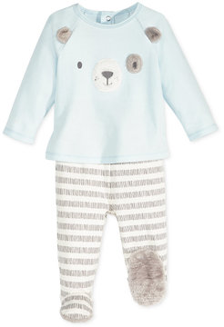 First Impressions 2-Pc. Dog Top & Footed Pants Set with Faux Fur Trim, Baby Boys (0-24 months), Created for Macy's