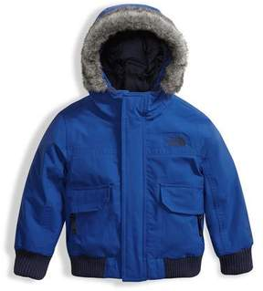The North Face Gotham Down Hooded Jacket w/ Faux-Fur Trim, Blue, Size 2-4T