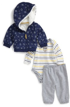 Little Me Infant Boy's Sport Hoodie, Bodysuit & Pants Set