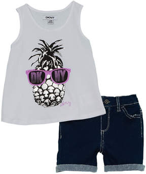 DKNY Girls' 2Pc Pineapple Short Set