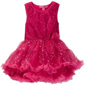 Betsey Johnson Lace & Sequin Disco Dot Tulle Dress (Big Girls)