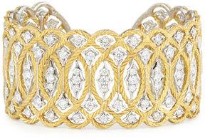 Buccellati Etoilée 18K Cuff Bracelet with Diamonds