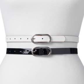 Apt. 9 Women's Reversible 2-for-1 Belt Set