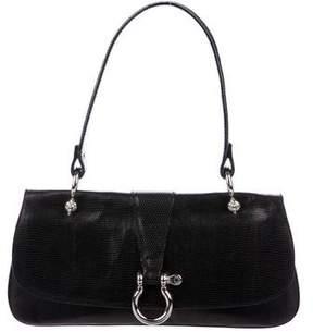 Burberry Embossed Leather Shoulder Bag