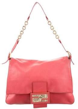 Fendi Python-Accented Mama Forever Bag