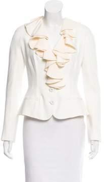 Christian Dior Ruffle-Accented Blazer