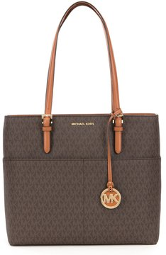 MICHAEL Michael Kors Bedford Signature Large-Pocket Tote - BROWN - STYLE