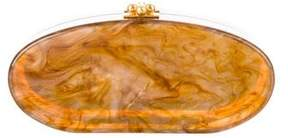 Edie Parker Oval Marble Clutch