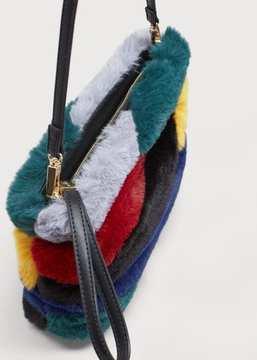 Violeta BY MANGO Combined faux-fur bag