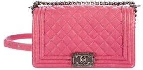 Chanel Calfskin Quilted Medium Boy Flap Bag