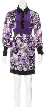 Anna Sui Printed Long Sleeve Dress