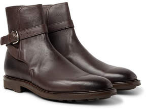 Edward Green Gresham Buckled Textured-Leather Boots