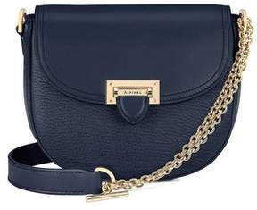 Aspinal of London | Portobello Bag With Chain In Navy Pebble | Navy pebble