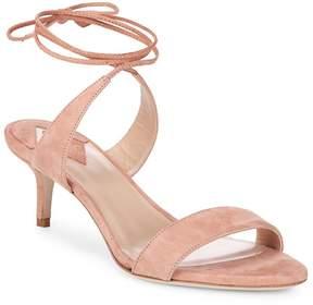 Aperlaï Women's Ankle Wrap Kitten Heel Sandals