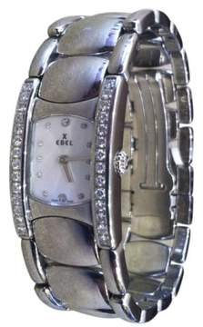 Ebel Beluga Manchette Stainless Steel & Mother of Pearl Dial 19.13mm Womens Watch