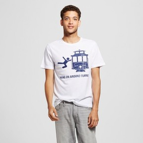 Awake Men's California Hang On Trolley T-Shirt White