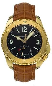 Girard Perregaux Seahawk II 18kt Yellow Gold Brown Leather Men's Watch