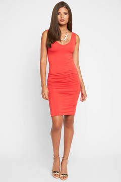 Bishop + Young Bishop & Young Alba Red Bodycon Midi Dress