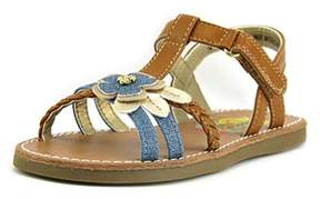 Rachel Krissy Open-toe Leather Slingback Sandal.