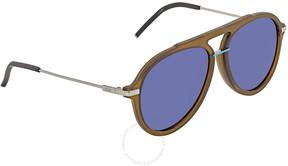 Fendi Fantastic Blue Aviator Men's Sunglasses FF M0011/S 1ED/KU