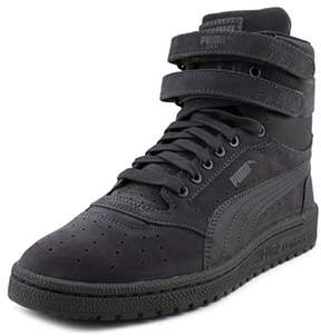 Puma Sky Ii Hi Youth Round Toe Suede Gray Sneakers.