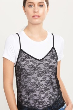 Dynamite Sheer Lace Cami