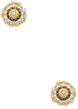 Miguel Ases Women's Beaded Circle Stud Earrings