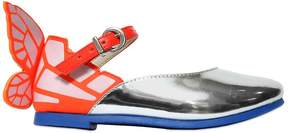 Sophia Webster Printed Wing Laminated Leather Flats