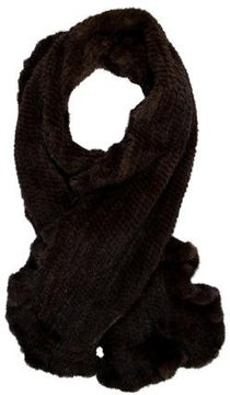 Saks Fifth Avenue Knitted Mink Fur Stole