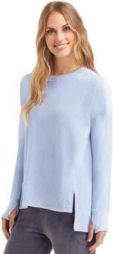 Cuddl Duds Women's Plush Velour Pullover Top