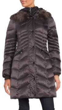 1 Madison Faux Fur-Trimmed Puffer Coat