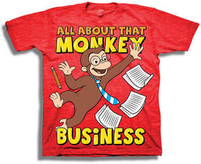 Freeze Toddler Boys S/S Curious George Business Graphic T-Shirt