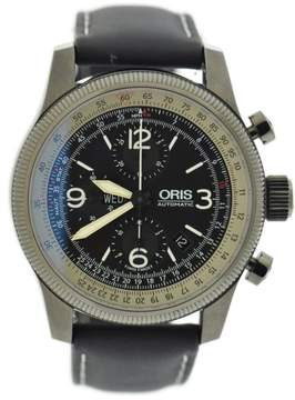Oris Big Crown X1 Calculator 7648 Stainless Steel & Leather Automatic 45mm Mens Watch
