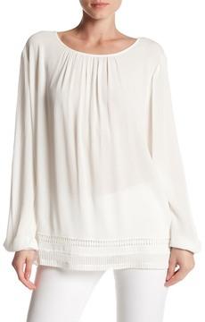 Chaus Long Sleeve Lace Trim Blouse