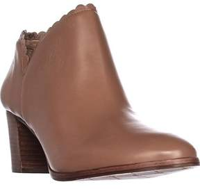 Jack Rogers Marianne Scalloped Low Rise Booties, Cognac.