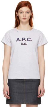 A.P.C. Grey US Logo T-Shirt