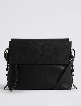 Marks and Spencer Faux Leather Grainy Messenger Bag