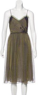 David Meister Silk Midi Dress