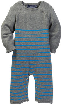 Toobydoo Drake Striped Sweater Jumpsuit (Baby Boys)